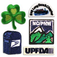 """1"""" Embroidered Patch Applique, Custom Shape"""