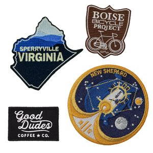 Embroidered Patches (2 1/2) - 100 percent Thread Coverage