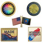 Custom American Dimension Printed Lapel Pins - Made in USA