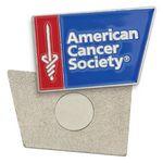 Custom Lapel Pin Badge - Die Struck Iron Soft Enamel Magnet Backing (3/4