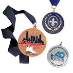 Custom Die Struck Brass Medal or Charm (1 1/4