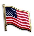 American Flag Lapel Pins - Print w/ Lamination