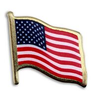 American Flag Lapel Pins - Print w/ Lamination
