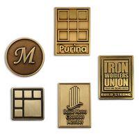 Lapel Pins Die Struck w/ Antique Bronze Finish - Made in USA
