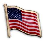 Custom American Flag Lapel Pin - Made in USA