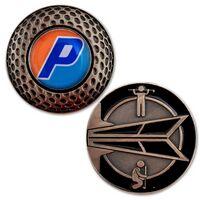 Antique Brass Golf Coins w/ Custom Ball Marker