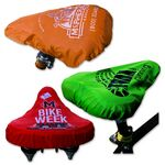 Custom Bicycle Seat Cover W/ Spot Color Imprint