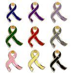 Custom Awareness Ribbon Lapel Pin - 3-Dimensional Design