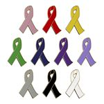 Custom Awareness Ribbon Lapel Pin - Stock