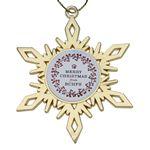 Custom Gold Snowflake Holiday Ornament
