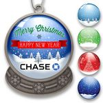 Custom Snow Globe Shaped Holiday Ornament