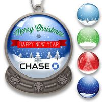 Snow Globe Shaped Holiday Ornament