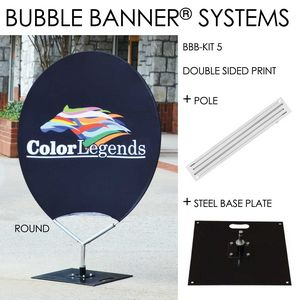 Bubble Banner Round Shaped Double Sided Print Frame Square