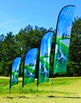 12' BLADE Wing Flag kit/ Double Sided Print