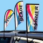 Custom Car Window Flag Double Side