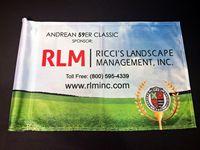 Golf Course Flag Custom - Single Sided - Pole Tube Sleeve.