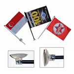 Custom Stick Flag with Suction Cup 2 Angles