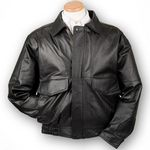 Custom Conceal Carry Buffed Leather Bomber Jacket