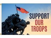 2'x3' Boutique Flag - Support Flag (Support Our Troops)