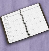 Wire Bound Academic/Fiscal Monthly Planner