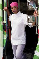 Unisex White Tunic Style Moisture Control Chef