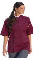 White Unisex Short Sleeve Chef