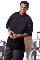 Unisex Black Tunic Style Moisture Control Chef