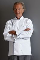 White Executive Piped Chef