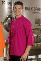 Unisex 3/4 Sleeve Poplin Colored Chef Coat / Server Shirt (4XL-6XL)