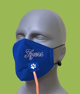 Adult Mask w/Straw Hole- Antibacterial poly liner