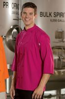 Unisex 3/4 Sleeve Poplin Colored Chef Coat /Server Shirt (XS-XL)