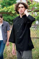 Black 3/4 Sleeve Chef Coat (XS-XL)