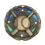 Custom Antique Baseball Color Epoxy Medallion (2-1/2