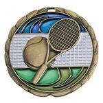 Custom Antique Tennis Color Epoxy Medallion (2-1/2
