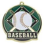 Custom Bright Gold Baseball High Tech Medallion (2