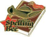 Custom Gold Spelling Bee Lapel Pin (1-1/4