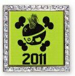 Custom Vibraprint Square Glitter Lapel Pins (1-3/16