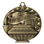 Custom A Honor Roll Academic Performance Medallion