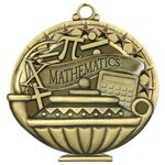 Custom Mathematics Academic Performance Medallion