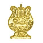 Band Lyre Bright Gold Chenille Lapel Pin