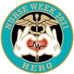 Custom Nurse Week 2021 Hero Round Vibraprint Lapel Pins (1-1/2