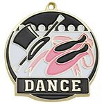 Custom Bright Gold Dance High Tech Medallion (2
