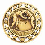 Custom Antique Wrestling Star Medal (2-1/2