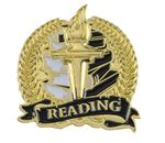 Bright Gold Academic Reading Lapel Pin (1-1/8