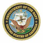 Custom Navy Double Sided Coin (1-3/4