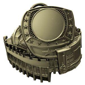 Custom Antique Ring Insert Stadium Medallions (2-1/2
