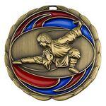Custom Antique Martial Arts Color Epoxy Medallion (2-1/2