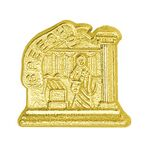 Speech Bright Gold Chenille Lapel Pin