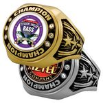 Custom Vibraprint Bright Star Championship Rings