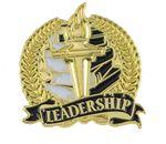 Custom Bright Gold Academic Leadership Lapel Pin (1-1/8